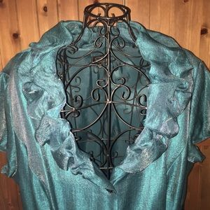 Adrianna Papell turquoise 20W dress